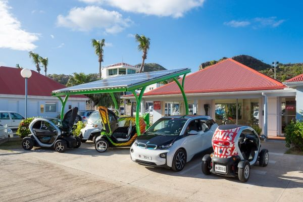 AVIS St. Barth, with solar panels